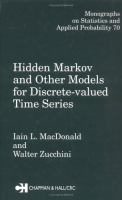 Cover image for Hidden Markov and other models for discrete-valued time series