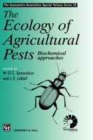 Cover image for The ecology of agricultural pests : biochemical approaches