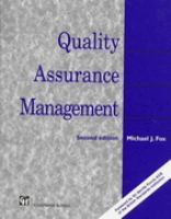 Cover image for Quality assurance management
