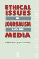 Cover image for Ethical issuess in journalism and the media