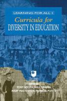 Cover image for Curricula for diversity in education