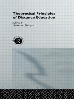 Cover image for Theoretical principles of distance education