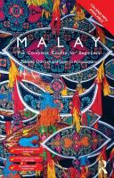 Cover image for Colloquial malay : a complete language course