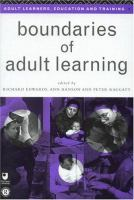 Cover image for Boundaries of adult learning