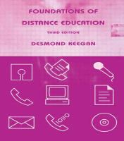 Cover image for Foundations of distance education