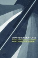 Cover image for Concrete structures:  stresses and deformations