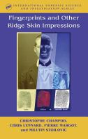 Cover image for Fingerprints and other ridge skin impressions