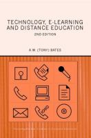 Cover image for Technology, e-learning and distance education