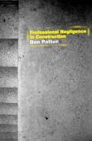 Cover image for Professional negligence in construction