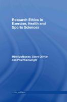 Cover image for Research ethics in exercise, health and sport sciences