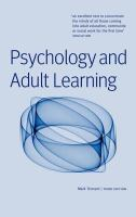 Cover image for Psychology and adult learning