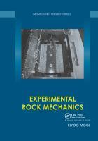 Cover image for Experimental rock mechanics