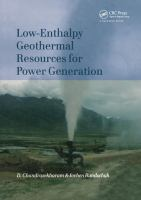 Cover image for Low-enthalpy geothermal resources for power generation