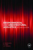 Cover image for Environmental and architectural acoustics