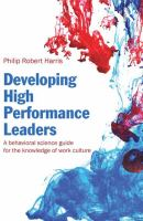 Cover image for Developing high performance leaders