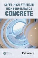 Cover image for Super high strength, high performance concrete
