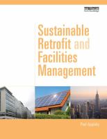 Cover image for Sustainable retrofit and facilities management