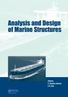 Cover image for Analysis and design of marine structures