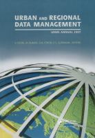 Cover image for Urban and regional data management : UDMS annual 2009 : proceedings of the Urban Data Management Society Symposium 2009, Ljubljana, Slovenia, 24-26 June 2009