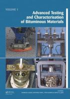 Cover image for Advanced testing and characterization of bituminous materials