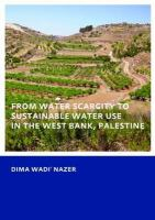 Cover image for From water scarcity to sustainable water use in the West Bank, Palestine