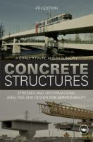 Cover image for Concrete structures : stresses and deformations : analysis and design for serviceability