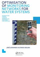 Cover image for Optimisation of monitoring networks for water systems : information theory, value of information and public participation