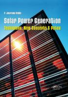 Cover image for Solar power generation : technology, new concepts & policy