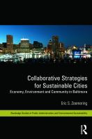 Cover image for Collaborative strategies for sustainable cities : economy, environment and community in Baltimore