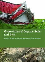 Cover image for Geotechnics of organic soils and peat