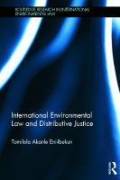 Cover image for International environmental law and distributive justice