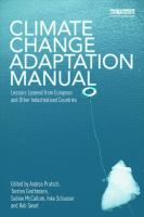 Cover image for Climate change adaptation manual : lessons learned from European and other industrialised countries