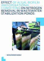 Cover image for Effect of algal biofilm and operational conditions on nitrogen removal in wastewater  stabilization ponds