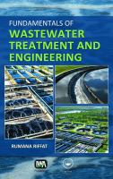 Cover image for Fundamentals of wastewater treatment and engineering