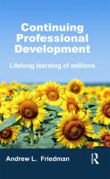 Cover image for Continuing professional development : lifelong learning of millions