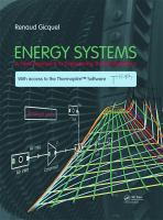 Cover image for Energy systems : a new approach to engineering thermodynamics