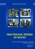 Cover image for True triaxial testing of rocks