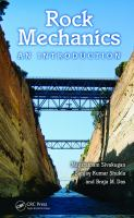 Cover image for Rock mechanics : an introduction