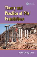 Cover image for Theory and practice of pile foundations