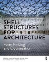 Cover image for Shell structures for architecture : form finding and optimization
