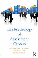 Cover image for The psychology of assessment centers