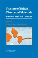 Cover image for Fracture of brittle disordered materials : concrete, rock and ceramics