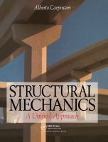 Cover image for Structural mechanics - a unified approach