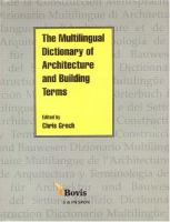 Cover image for Multilingual dictionary of architecture and building terms