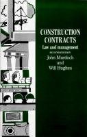 Cover image for Construction contracts : law and management