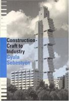 Cover image for Construction : craft to industry