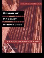 Cover image for Design of masonry structures
