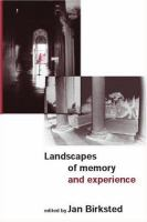 Cover image for Landscapes of memory and experience