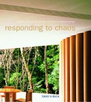 Cover image for Responding to chaos : tradition, technology, society, and order in Japanese design
