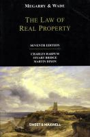 Cover image for The law of real property